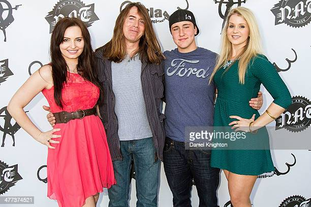 Actors Ariel Teal Toombs Jim Mitchell Noah Dahl and Christina Blevins arrive at the 'Storage Wars' Season 4 Premiere Party at Now Then on March 8...
