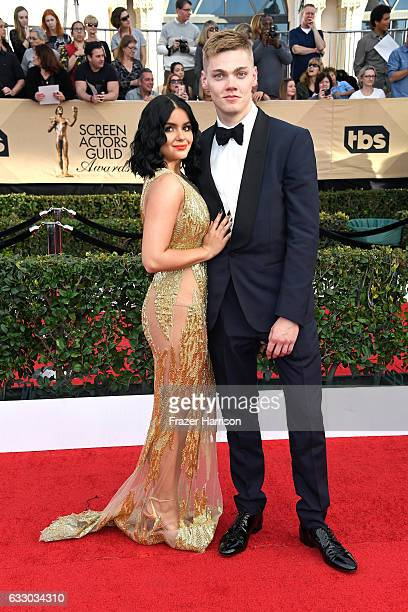 Actors Ariel Winte and Levi Meaden attend The 23rd Annual Screen Actors Guild Awards at The Shrine Auditorium on January 29, 2017 in Los Angeles,...