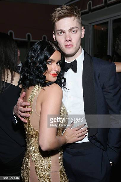 Actors Ariel Winter and Levi Meaden attend The Weinstein Company Netflix's 2017 SAG After Party in partnership with Absolut Elyx at Sunset Tower...