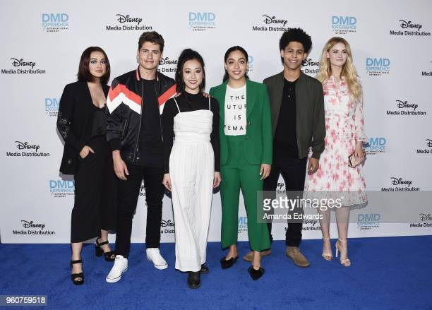 Actors Ariela Barer, Gregg Sulkin, Lyrica Okano, Allegra Acosta, Rhenzy Feliz and Virginia Gardner arrive at the Disney/ABC International Upfronts at...
