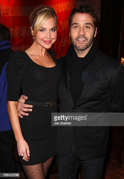 Actors Arielle Kebbel and Jeremy Piven attend the I Melt With You Press Junket At Bing Bar on January 26 2011 in Park City Utah