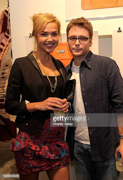 Actors Arielle Kebbel and Kevin Connolly attend Palate Group Art Exhibition featuring Burger Photographs by Jeff Vespaat Scion Installation LA on May...