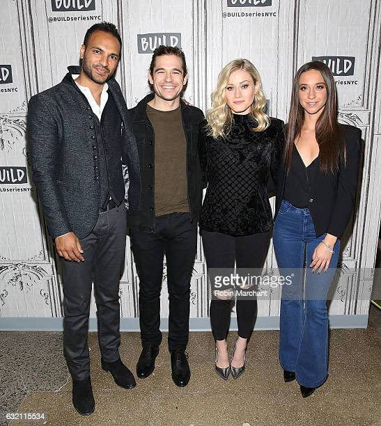 Actors Arjun Gupta Jason Ralph Stella Maeve and Olivia Taylor Dudley attend Build Series Presents The Cast Of The Magicians at Build Studio on...