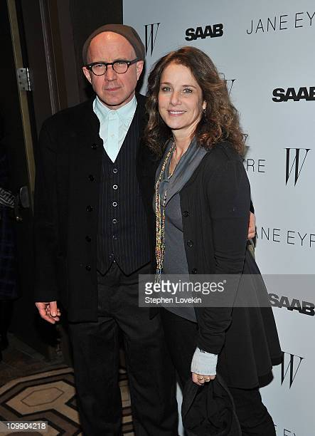 Actors Arliss Howard and wife actress Debra Winger attend the New York premiere of Jane Eyre at the Tribeca Grand Hotel Screening Room on March 9...