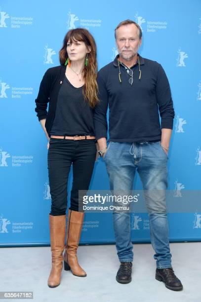 Actors Arly Jover and Karel Roden attend the 'A Prominent Patient' photo call during the 67th Berlinale International Film Festival Berlin at Grand...