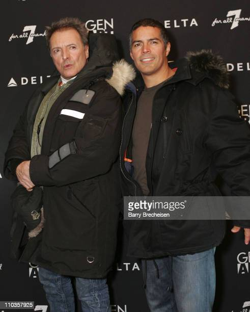 Actors Armand Assante and Esai Morales attends the Gen Art Fresh Faces Party hosted by Seven Jeans at the Sky 360 Lounge on January 18 2008 in Park...