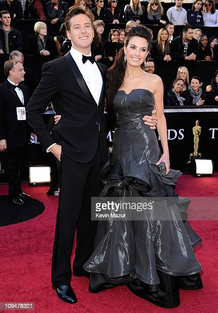 Actors Armie Hammer and Elizabeth Chambers arrive at the 83rd Annual Academy Awards held at the Kodak Theatre on February 27 2011 in Hollywood...