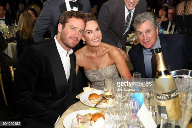 Actors Armie Hammer and Elizabeth Chambers attend the 23rd Annual Critics' Choice Awards on January 11 2018 in Santa Monica California