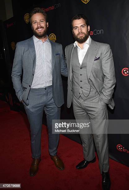 """Actors Armie Hammer and Henry Cavill attend Warner Bros. Pictures Invites You to """"The Big Picture"""", an Exclusive Presentation Highlighting the Summer..."""