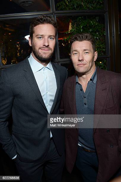 Actors Armie Hammer and Joel Edgerton attend the Hollywood Foreign Press Association and InStyle celebrate the 2017 Golden Globe Award Season at...