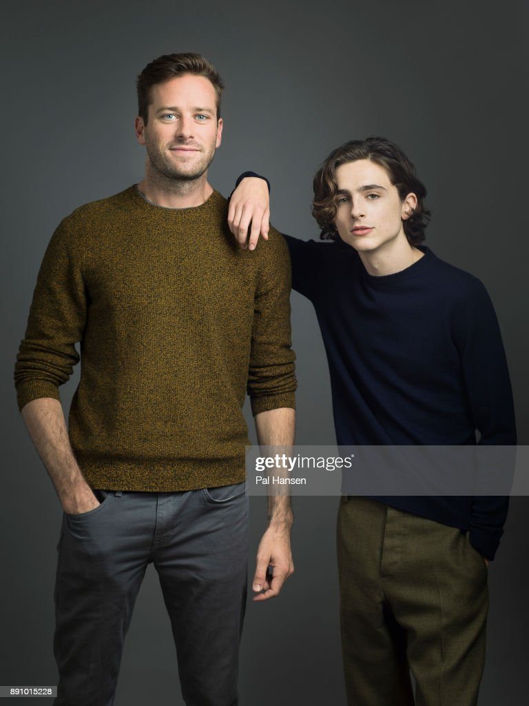 Actors Armie Hammer and Timothee Chalamet are photographed for the Observer on October 9, 2017 in London, England.