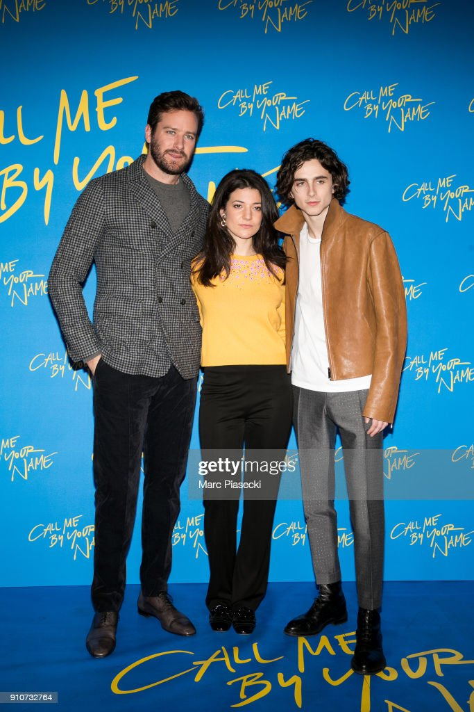"""Call Me By Your Name"" Paris Premiere At UCG Les Halles"
