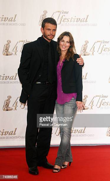 Actors Arnaud Binard and Toinette Laquiere attend the TF1 premiere screening of 'Mystere' on the third day of the 2007 Monte Carlo Television...
