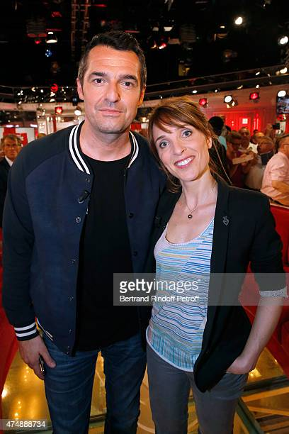 Actors Arnaud Ducret and Alix Poisson attend the 'Vivement Dimanche' French TV Show at Pavillon Gabriel on May 27 2015 in Paris France