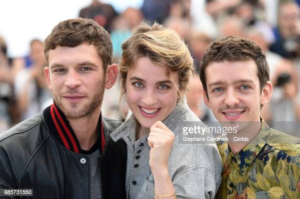 Actors Arnaud Valois Adele Haenel and Nahuel Perez Biscayart attend the 120 Beats Per Minute screening during the 70th annual Cannes Film Festival at...