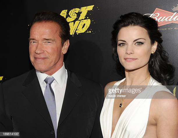 Actors Arnold Schwarzenegger and Jaimie Alexander arrive at the premiere of Lionsgate Films' 'The Last Stand' at Grauman's Chinese Theatre on January...