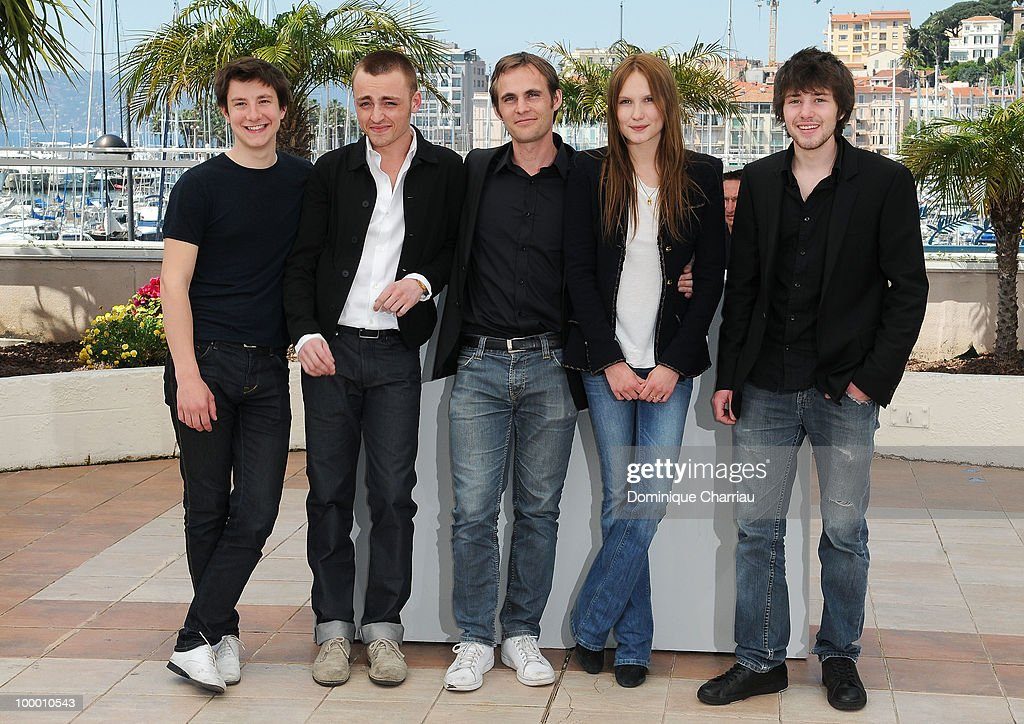 Actors Arthur Mazet, Jules Pelissier, director Fabrice Gobert,actress Ana Girardot and actor Laurent Delbecque attend the 'Lights Out' Photo Call held at the Palais des Festivals during the 63rd Annual International Cannes Film Festival on May 20, 2010 in Cannes, France.