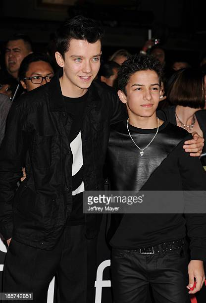 Actors Asa Butterfield and Aramis Knight arrive at the Los Angeles premiere of 'Jackass Presents Bad Grandpa' at TCL Chinese Theatre on October 23...