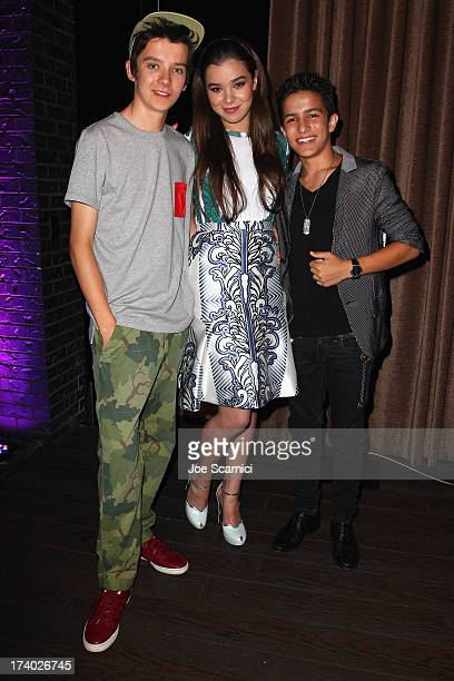 Actors Asa Butterfield Hailee Steinfeld and Aramis Knight attend Summit Entertainment ComicCon VIP Celebration red carpet sponsored by Fandango at...