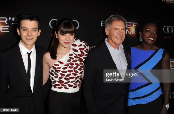 Actors Asa Butterfield Hailee Steinfeld Harrison Ford and Viola Davis attend the Premiere Of Summit Entertainment's Ender's Game at TCL Chinese...
