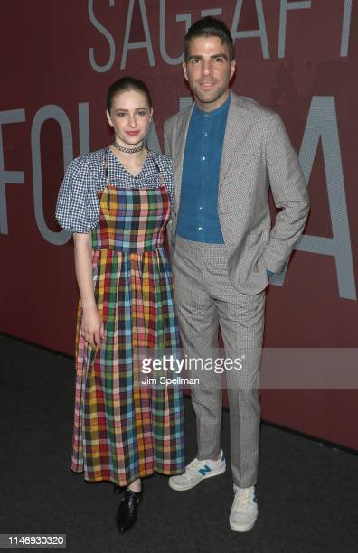 Actors Ashleigh Cummings and Zachary Quinto attend the SAGAFTRA Foundation Conversations N0S4A2 at The Robin Williams Center on May 29 2019 in New...