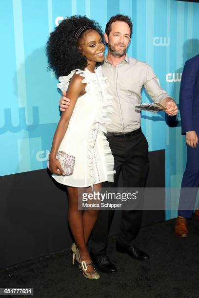 Actors Ashleigh Murray and Luke Perry attend the 2017 CW Upfront on May 18 2017 in New York City