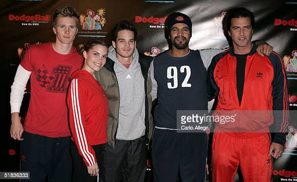 Actors Ashley Bashioum Gregg Rikaart Kristoff St John and John Enos attend Dodgeball The Celebrity Tournament to benefit the Elizabeth Glaser...