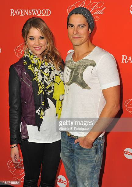 Actors Ashley Benson and Sean Faris attend a screening of ABC Family's Pretty Little Liars Halloween episode at Hollywood Forever Cemetery on October...