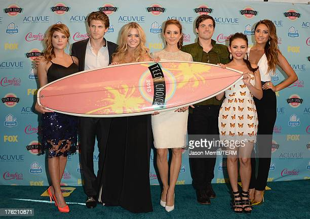 Actors Ashley Benson Keegan Allen Sasha Pieterse Troian Bellisario Ian Harding Janel Parrish and Shay Mitchell winner of Choice TV Show Drama for...