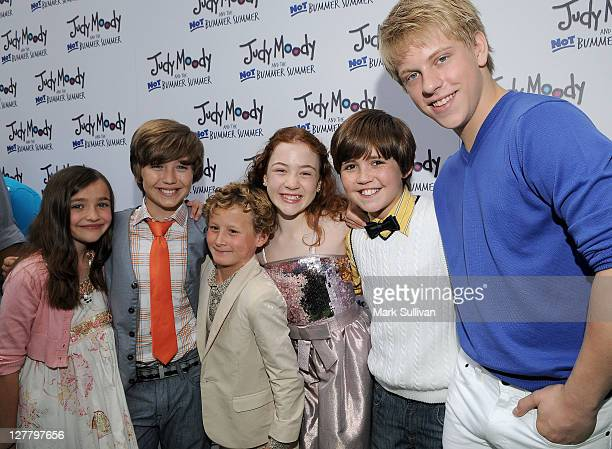 Actors Ashley Boettcher Garrett Ryan Parris Mosteller Jordana Beatty Preston Bailey and Jackson Odell attend the Los Angeles premiere of Judy Moody...