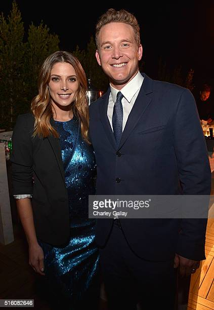 Actors Ashley Greene and Cole Hauser attend the after party celebrating ATT's ROGUE at the London Hotel on March 16 2016 in Los Angeles California
