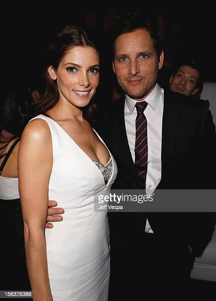 "Actors Ashley Greene and Peter Facinelli attend ""The Twilight Saga: Breaking Dawn - Part 2"" after party at Nokia Theatre L.A. Live on November 12,..."