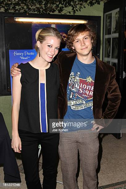 Actors Ashley Hinshaw and Logan Mmiller attend IFC's Los Angeles Premiere Of 1 at Cinefamily on September 19 2013 in Los Angeles California