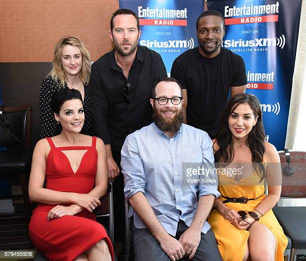 Actors Ashley Johnson Sullivan Stapleton Rob Brown and Jamie Alexander executive producer Martin Gero and actress Audrey Esparza attend SiriusXM's...