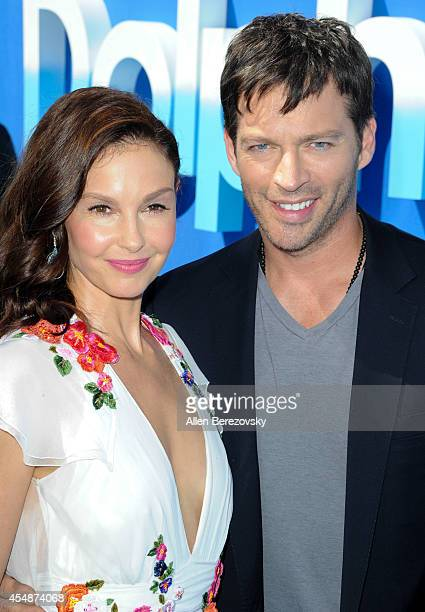 Actors Ashley Judd and Harry Connick Jr attend the Los Angeles Premiere of 'Dolphin Tale 2' at Regency Village Theatre on September 7 2014 in...
