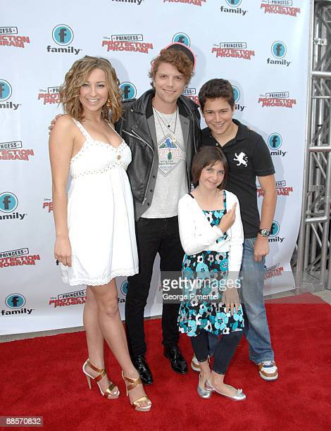 Actors Ashley Leggat Michael Seater Ariel Waller and Jordon Todosey attend the Red Carpet Premiere For Disney's 'Princess Protection Program' at the...