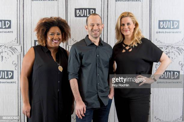 Actors Ashley Nicole Black Mike Rubens and Allana Harkin discuss Full Frontal With Samantha Bee at Build Studio on April 7 2017 in New York City