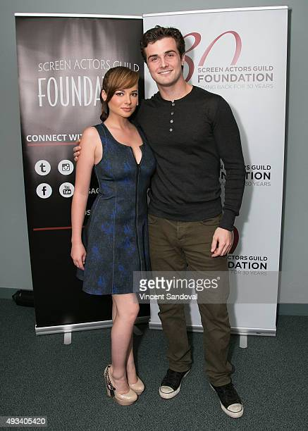 Actors Ashley Rickards and Beau Mirchoff attend The SAG Foundation's Conversations series presents MTV's Awkward at SAG Foundation Actors Center on...