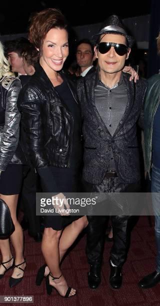 Actors Ashley Scott and Corey Feldman attend a screening of 'A Tale of Two Coreys' at ArcLight Sherman Oaks on January 4 2018 in Sherman Oaks...