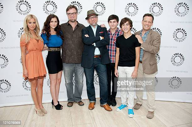 Actors Ashley Tisdale Alyson Stoner Dan Povenmire Jeff Swampy MarshMitchel Musso Vincent Martella and Dee Bradley Baker arrive at the PaleyFest...