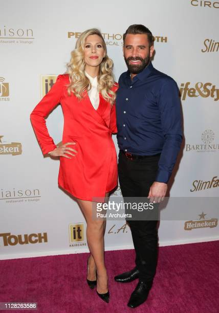 Actors Ashley Wahler and Jason Wahler attend the 2019 PreGRAMMY event presented by OK Star In Touch and Life Style magazines at the Liaison...