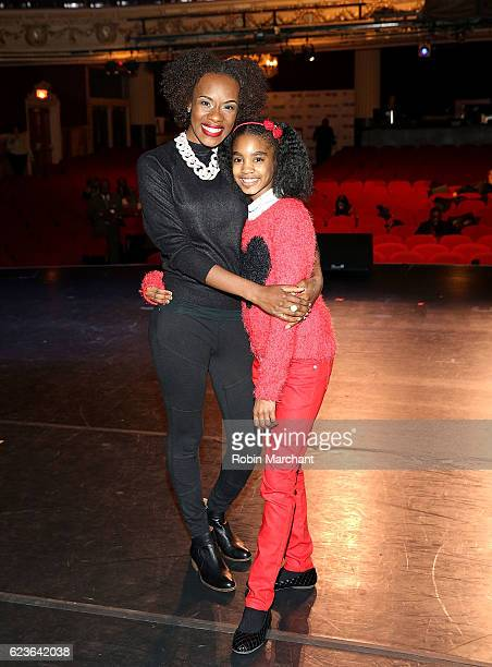 Actors Ashley Ware Jenkins and Zariah Singletary attends 'The First Noel' Sneak Peek at The Apollo Theater on November 16 2016 in New York City