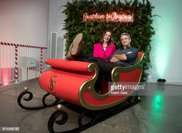 Actors Ashley Williams and Dermot Mulroney attend the opening of Hallmark's Museum of Christmas on November 14 2017 in New York City