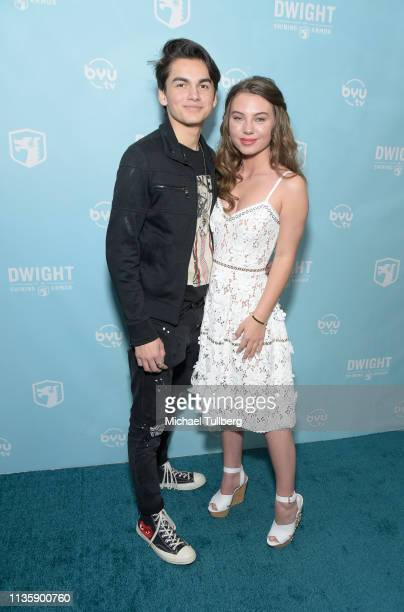 Actors Ashton Arbab and Caitlin Carmichael attend a special Los Angeles screening of BYUtv's new series Dwight In Shining Armor at Pacific Theatres...