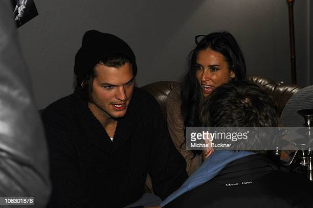 Actors Ashton Kutcher and Demi Moore attend Bing Presents 'The Details' Official Cast Dinner and AfterParty on January 24 2011 in Park City Utah