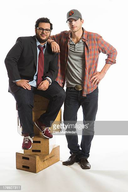 Actors Ashton Kutcher and Josh Gad are photographed for USA Today on August 11 2013 in Universal City California
