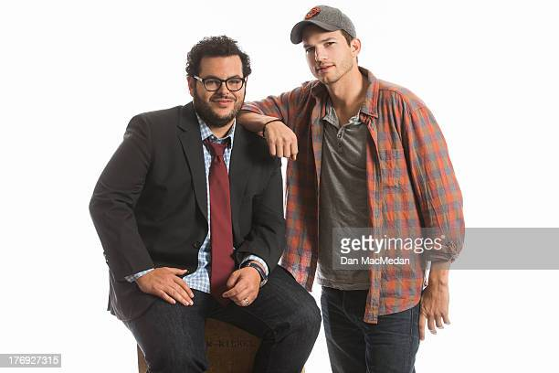 Actors Ashton Kutcher and Josh Gad are photographed for USA Today on August 11 2013 in Universal City California PUBLISHED IMAGE