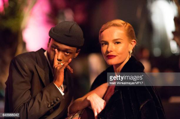 Actors Ashton Sanders and Kate Bosworth attend the 2017 Vanity Fair Oscar Party hosted by Graydon Carter at Wallis Annenberg Center for the...