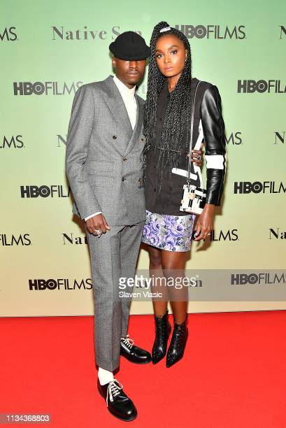 Actors Ashton Sanders and Kiki Layne attend HBO's Native Son screening at Guggenheim Museum on April 1 2019 in New York City