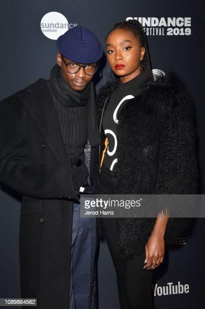 Actors Ashton Sanders and Kiki Layne attend the 2019 Sundance Film Festival - Cinema Cafe 2 during the 2019 Sundance Film Festival at Filmmaker Lodge...